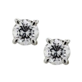 14k White Gold Diamond Stud Earrings in Diamond