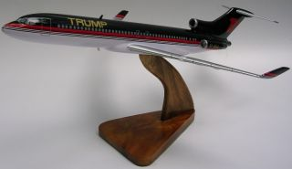 Boeing B 727 Donald Trump Airplane Wood Model Large