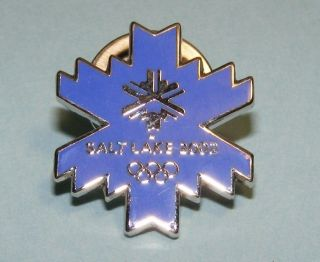 winter olympic snowflake pin purple lapel pin badge i usa slc winter