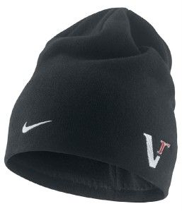 VR Golf Beanie Cap Lid Fleece Lined Black Tiger Woods Winter