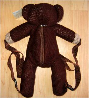 Teddy Bear Cute Plush School Backpack Bag RARE Discontinued