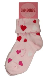 Gymboree Valentines Day Pink Heart Socks 2 3 Girls