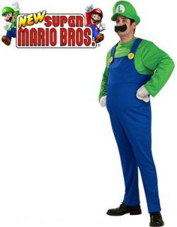 Mens Deluxe Mario Brothers Luigi Costume Large 42 44