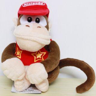 Diddy Kong Plush Toy Stuffed Donkey Kong Monkey Teddy Doll
