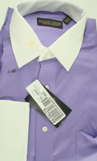 1929 Donal J Trump Mens Dress Shirt French Cuff Deep Lilac 16 5 34 35