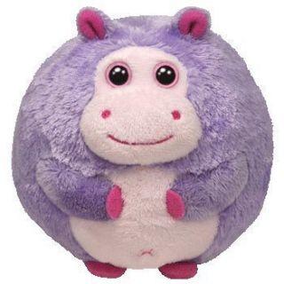 Ty Beanie Ballz Large Plush Dewdrop Hippo Ball New
