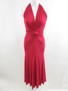 donna karan new york magenta long halter dress sz m