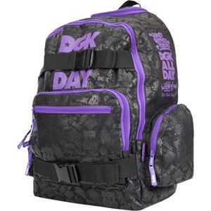 DGK All Day 2 Skate Board Backpack Black