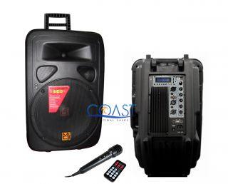 Mr DJ PP 3500 2500W Portable Tower Speaker w Remote Free Microphone
