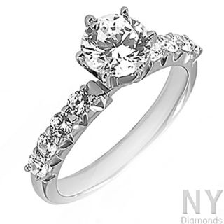 Solitaire Engagement Ring Band 0.75 Ctw Diamond Jewelry 14k White Gold