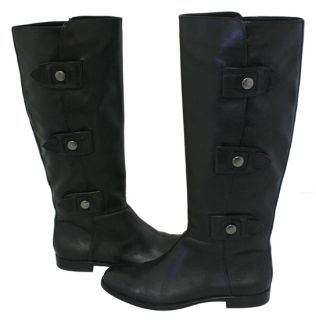 coach maple black leather flat boots brand new and in perfect