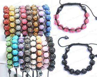 New AB Disco Ball Charms Friendship Multicolor Bracelets Beads Bangle