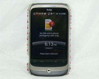 Pink Diamond Case Diamante Back Cover HTC G8 Wildfire