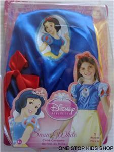 SNOW WHITE Girls 4 5 6 6X Dress Up HALLOWEEN COSTUME Disney Princess