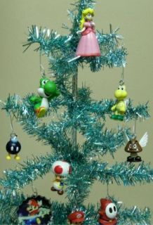 Nintendo Game Icon Super Mario Brothers Set of 18 Christmas Tree
