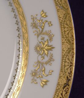 Pristine Unused Limoges Philippe Deshoulieres Gold China Dinnerware