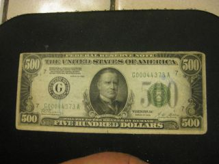 500 Dollar Bill Federal Reserve Note Collectible Currency Real Money