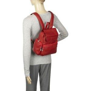 le donne ladies multi pocket leather backpack