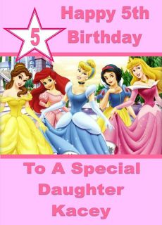 New Design Personalised Birthday Card Disney Princess Snow White
