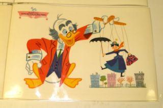 Vintage 1960s Walt Disney Laminated Placemats Mickey Pluto Pinnochio