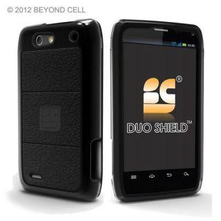 Motorola Droid 4 XT894 Black Double Dual Layer Hybrid Hard Case