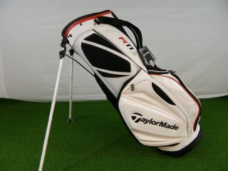 TAYLORMADE R11 S TMX STAND CARRY GOLF BAG WHITE BLACK RED DOUBLE STRAP