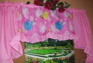 disney princess pink window treatment curtain valance girls bed bath