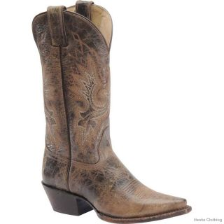 Womens Double H 12 Distressed Onix Leather Cowgirl Boot Style DH5223