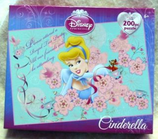 Disney Princess Cinderella 200 Piece Puzzle INVITATION TO ROYAL TEA