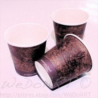 50 Coffee cups  Disposable paper cups 4oz 110ml For espresso Brown