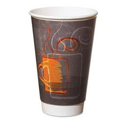 Dixie AROREF0112 Aroma Design 12 Ounce Hot Paper Cups