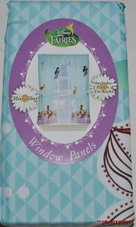 new disney tinkerbell fairies window curtains panels