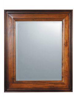 Beveled Tuscan Distressed Wood Wall Mantel Mirror