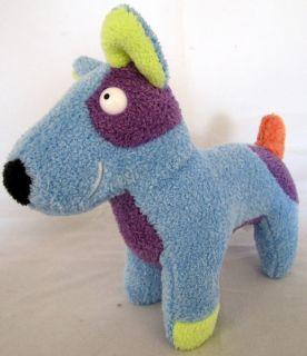 Douglas Cuddle Toys Blue Multicolor Plush Dog 8