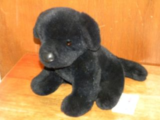 BLACK LAB PUPPY *Douglas Cuddle Toy Dog w/ Hang Tag! MACHINE WASHABLE