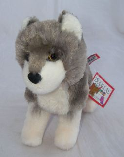 Douglas Cuddle Toy Plush Ashes Wolf 4036 1 White Gray Siberian Husky