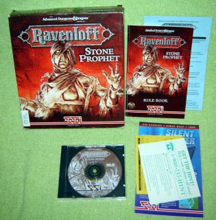 AD D Ravenloft STONE PROPHET Computer IBM DOS PC CD ROM Game Big Box