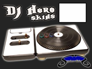WHITE DJ Hero turntable Skin for 360, PS3 Console System Vinyl Decal