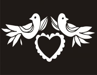 Doves Love Heart Sweet Valentines Day Gift Heart Birds Novelty Funny