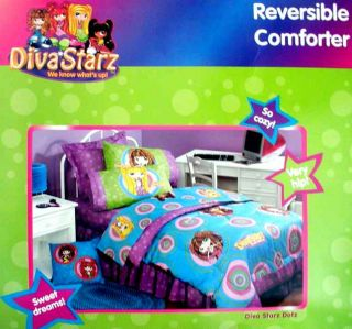 Diva Starz Dotz Twin Comforter Sheets Bedskirt Valance 6pc Bedding Set