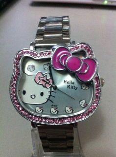 HelloKitty Lovely Crystal Diamond Quartz Watch
