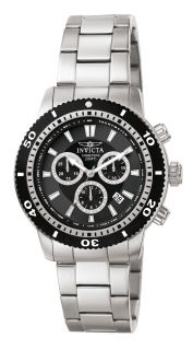 New Invicta 1203 Men Watch Stainless Steel Band Stainless Steel Case