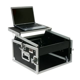 OSP Pro DJ 6 Space Rack Mixer Rack Case w Laptop Shelf