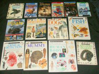 14 DK Eyewitness Children Book Lot Science History Hardcover Star Wars