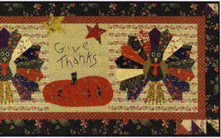 Dresden Turkeys – Table Runner Pattern by Jan Patek Quilts