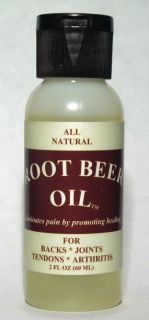 Arthritis Tendonitis Castor Oil DMSO MSM Natural Pain Relief Root Beer