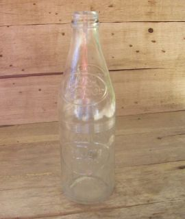 Old Dr Pepper 10 oz Clear Embossed Bottle No Refill