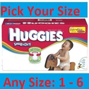 Huggies Snug Dry Diapers XL Case Size 1 2 3 4 5 6 Pick Your Size
