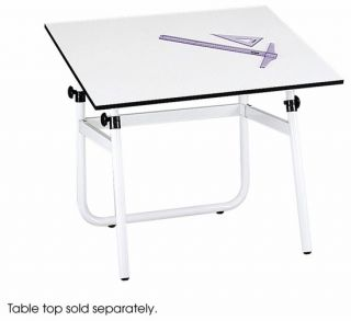 safco white horizon drawing table