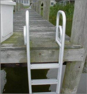 New 4 Step Heavy Duty Aluminum Dock Pier Swim Ladder
